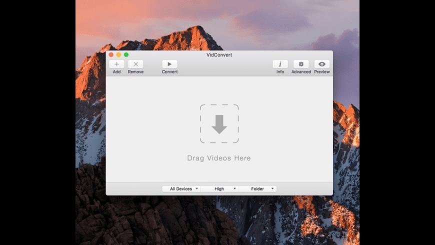 VidConvert for Mac - review, screenshots