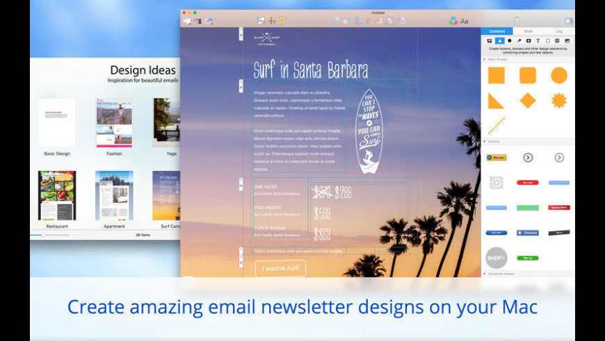 Mail Designer for Mac - review, screenshots
