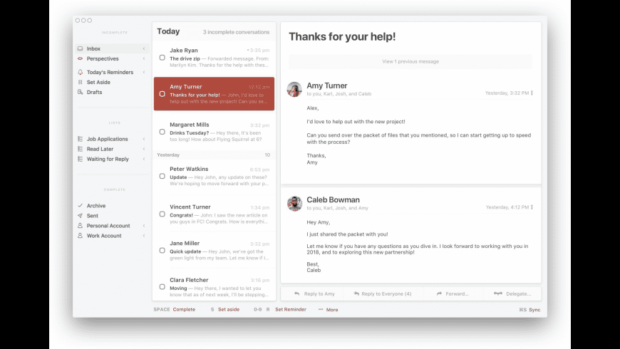 Mail Pilot for Mac - review, screenshots