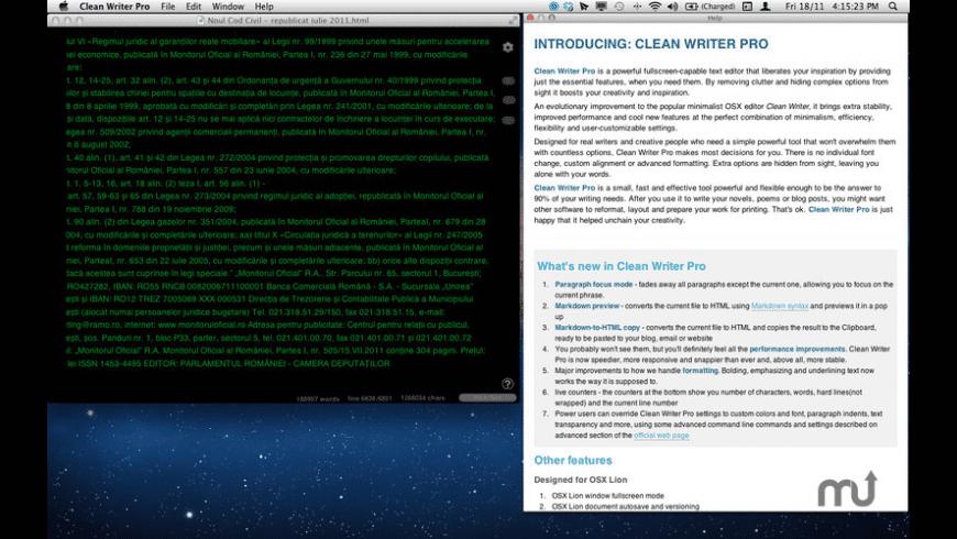 Clean Writer Pro for Mac - review, screenshots