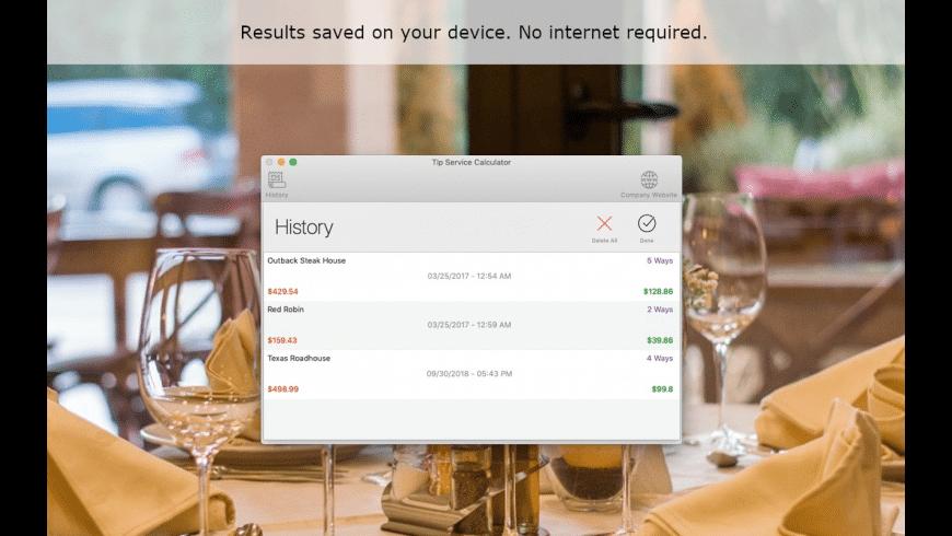 Tip Service Calculator for Mac - review, screenshots
