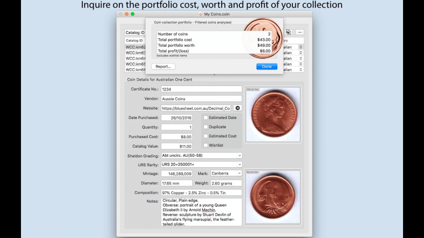 Coins for Mac - review, screenshots