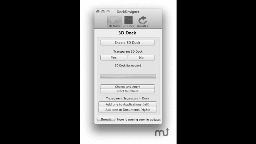 Dock Designer for Mac - review, screenshots