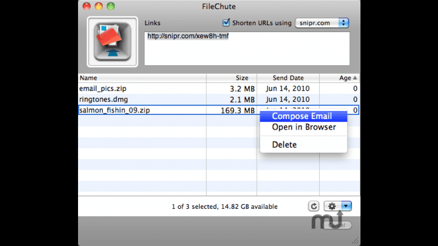 FileChute for Mac - review, screenshots