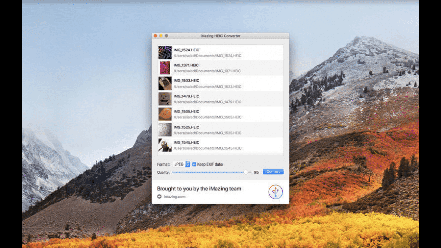 iMazing HEIC Converter for Mac - review, screenshots