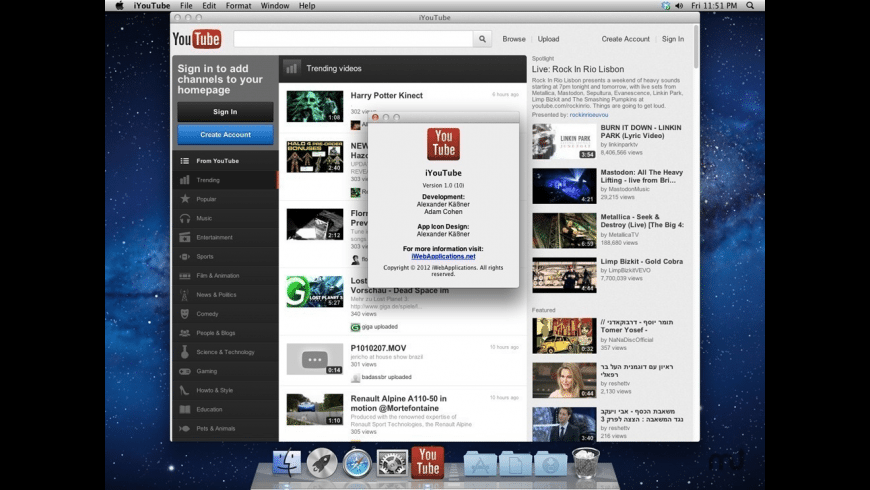 iYouTube for Mac - review, screenshots