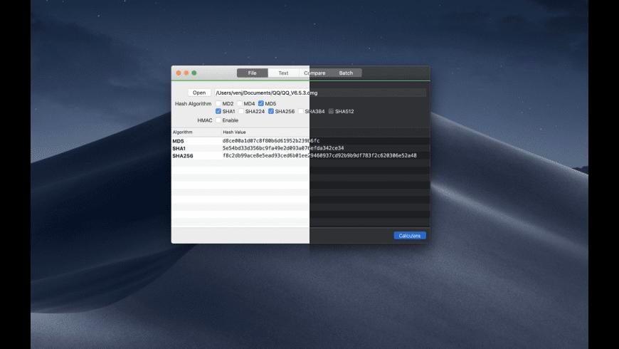 Hash Calculator for Mac - review, screenshots