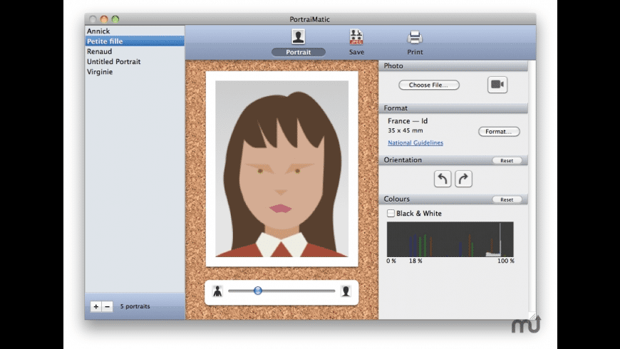 PortraiMatic for Mac - review, screenshots