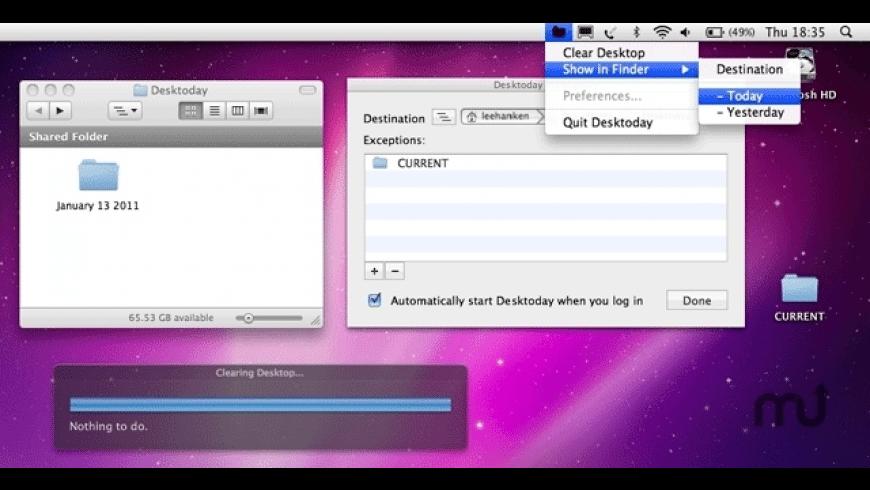 Desktoday for Mac - review, screenshots