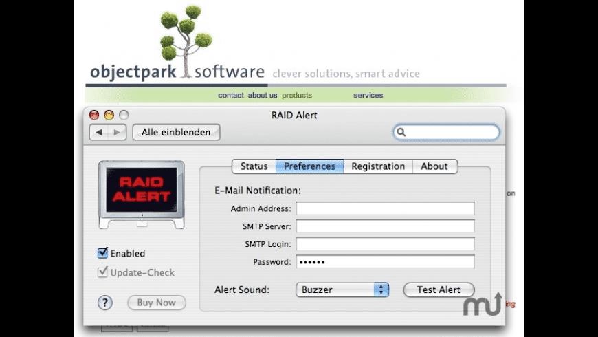 RAID Alert for Mac - review, screenshots