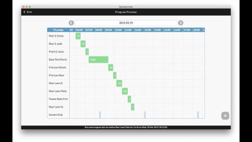 OpenSprinkler for Mac - review, screenshots
