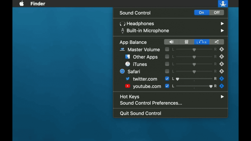 Sound Control for Mac - review, screenshots