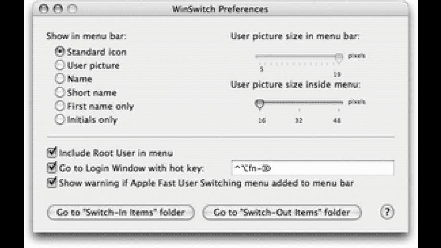 WinSwitch for Mac - review, screenshots