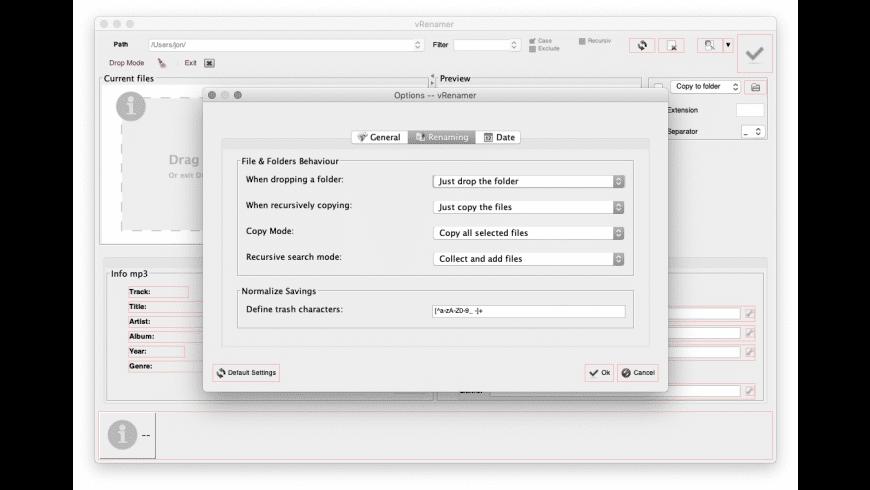 vRenamer for Mac - review, screenshots