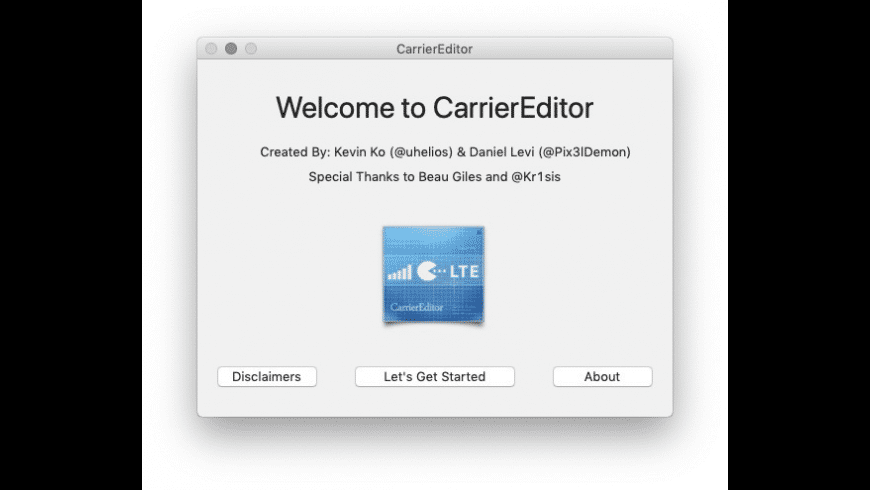 CarrierEditor for Mac - review, screenshots
