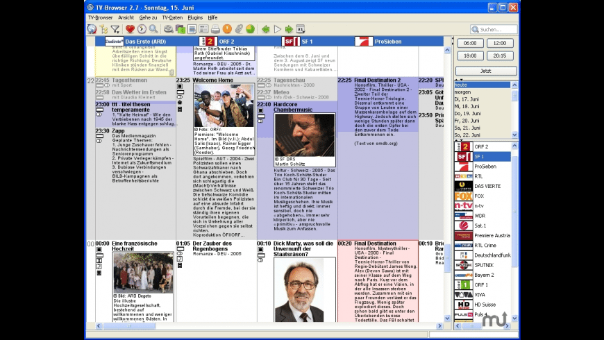 TV-Browser for Mac - review, screenshots