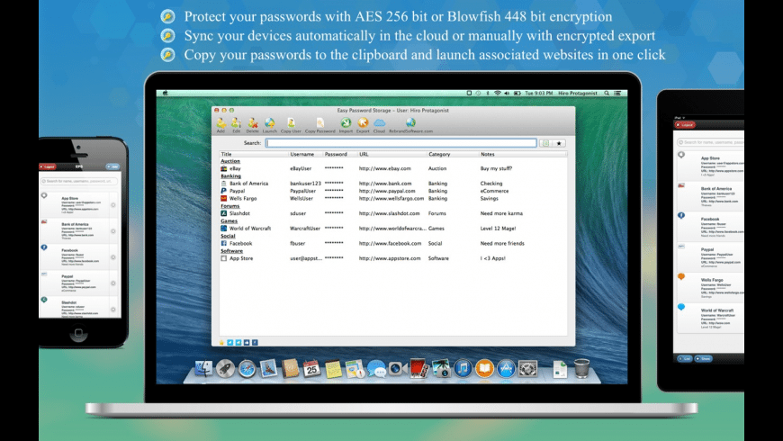Easy Password Storage for Mac - review, screenshots