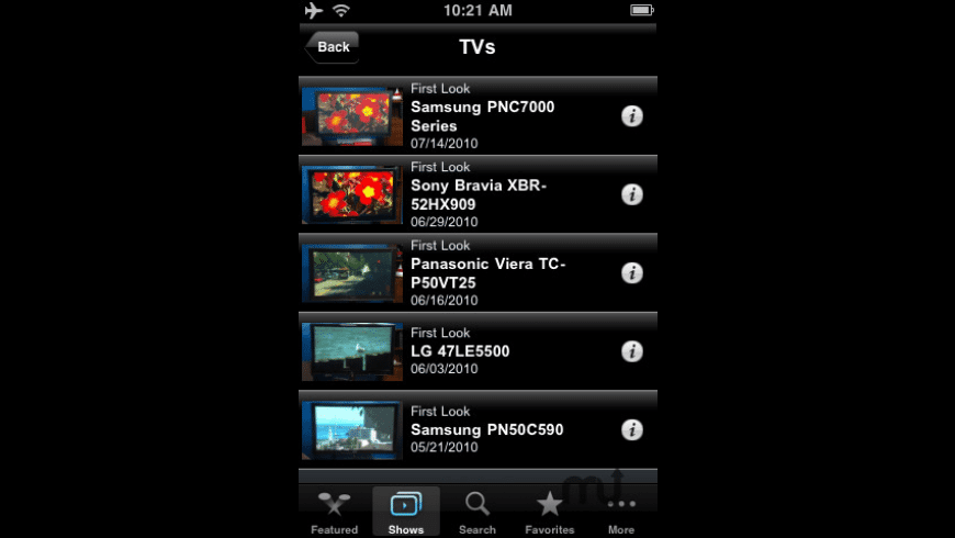 CNET TV for Mac - review, screenshots