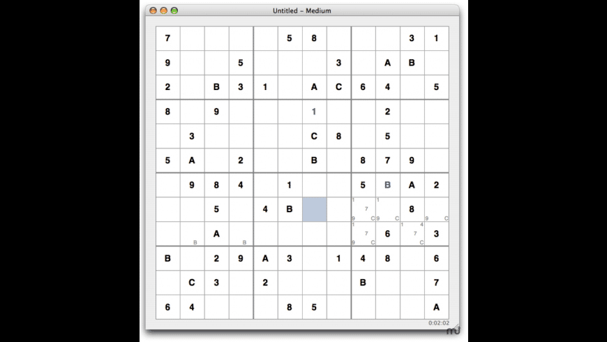 MacSudoku for Mac - review, screenshots