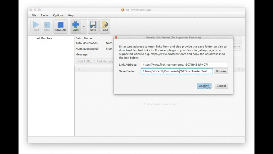 WFDownloader App for Mac - review, screenshots
