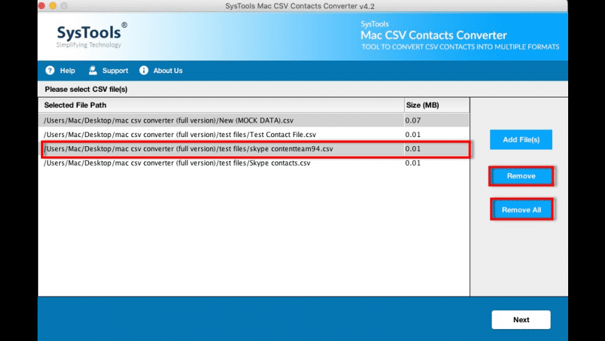 CSV to vCard Converter for Mac - review, screenshots