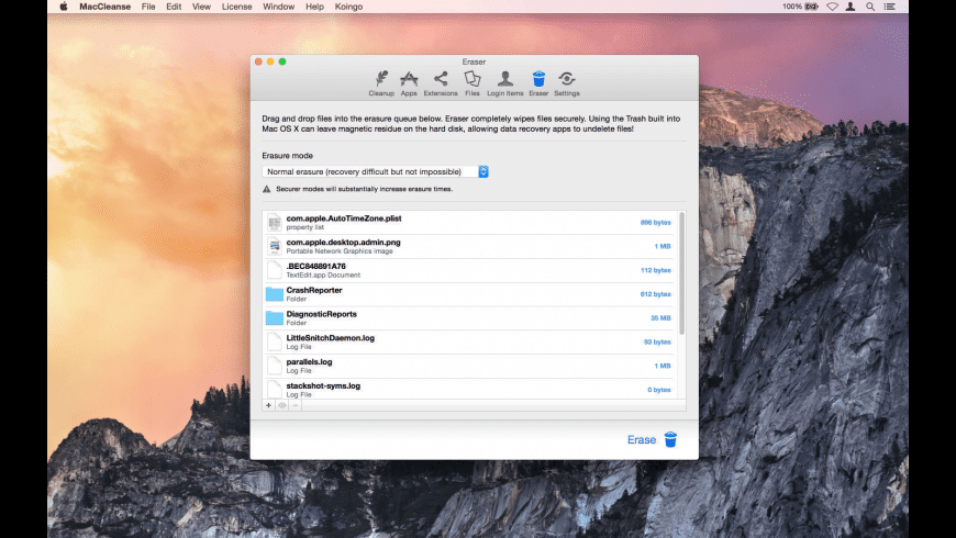 MacCleanse for Mac - review, screenshots