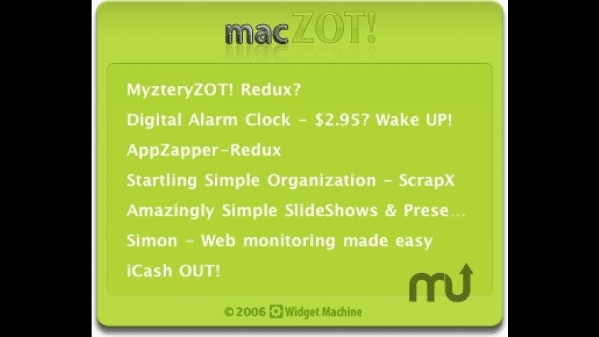 MacZOT! for Mac - review, screenshots
