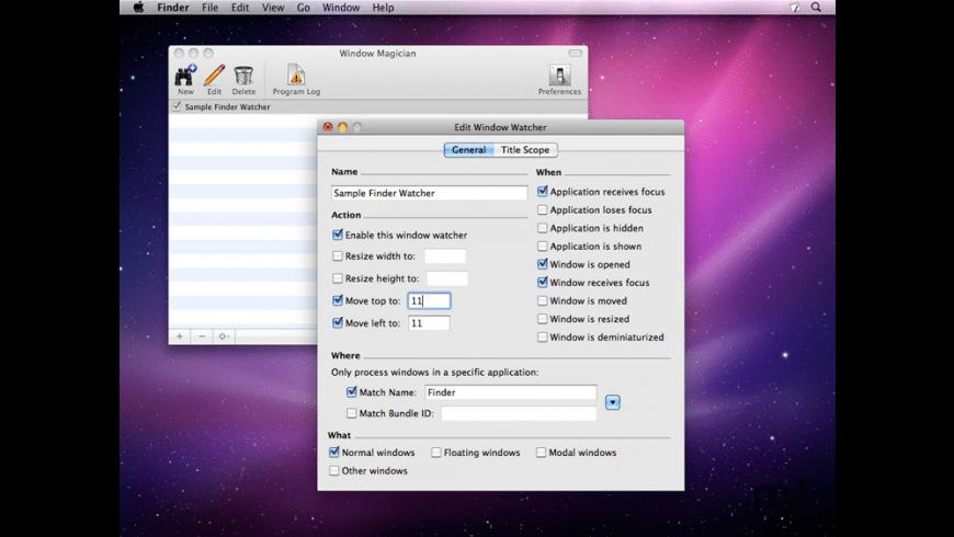 Window Magician for Mac - review, screenshots