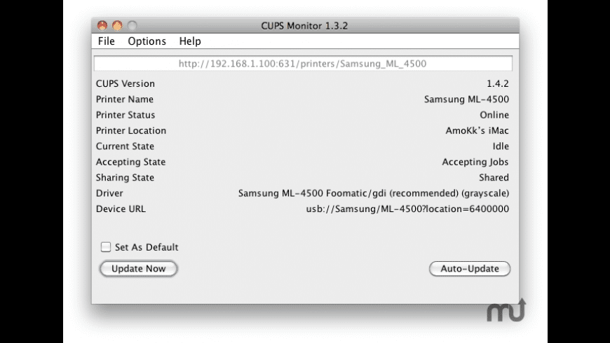 CUPS Monitor for Mac - review, screenshots