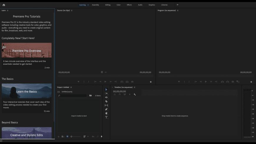 Adobe Premiere Pro CC 2020 for Mac - review, screenshots