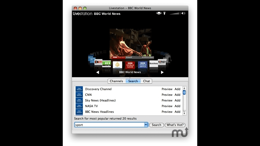 Livestation for Mac - review, screenshots