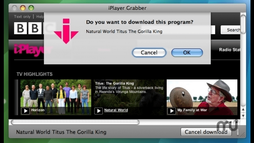 iPlayer Grabber for Mac - review, screenshots