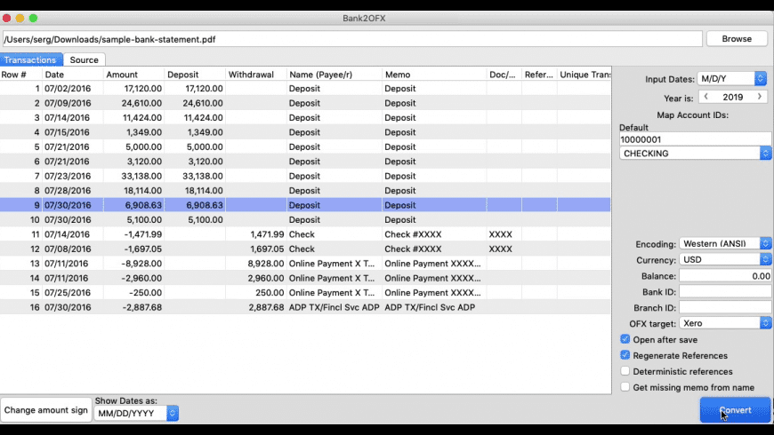 Bank2OFX for Mac - review, screenshots