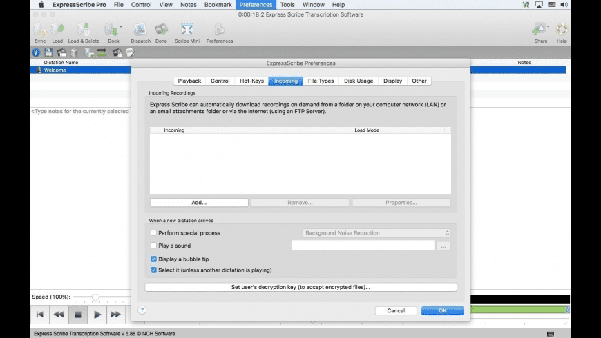 Express Scribe for Mac - review, screenshots