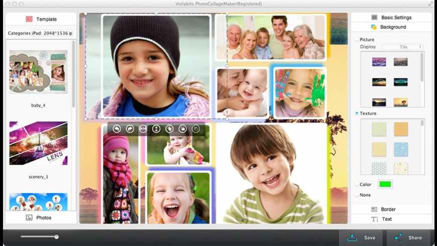 Voilabits PhotoCollageMaker for Mac - review, screenshots