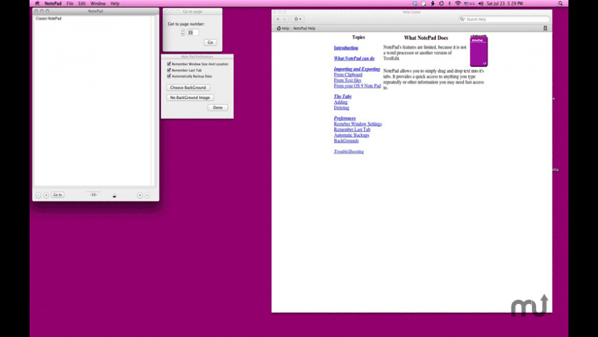 Classic NotePad for Mac - review, screenshots