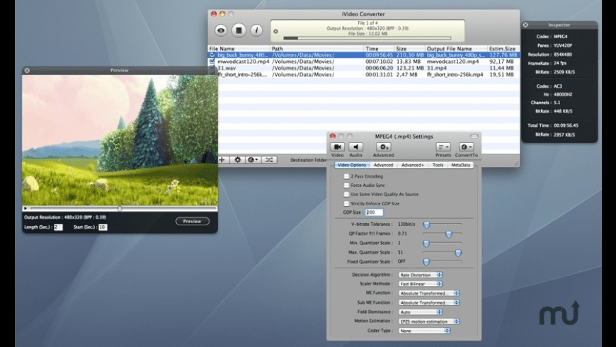 iVideo Converter for Mac - review, screenshots