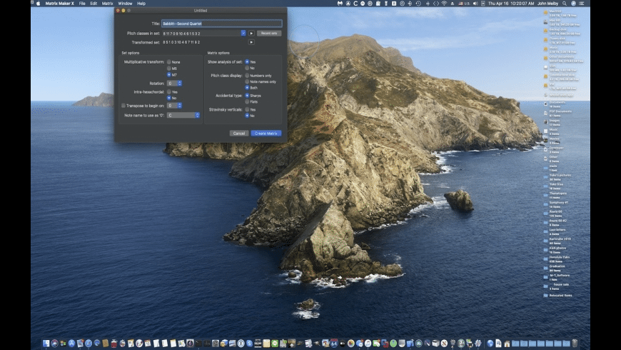 Matrix Maker X for Mac - review, screenshots