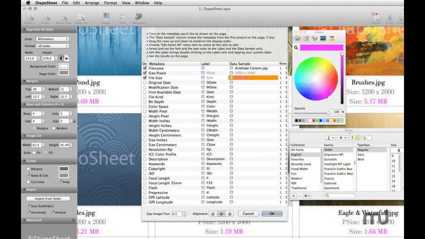 DiapoSheet for Mac - review, screenshots