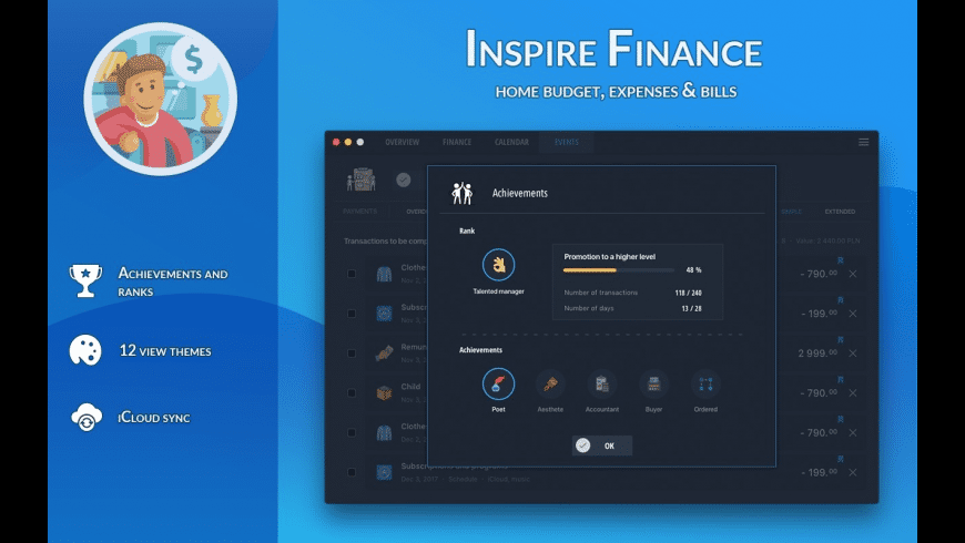 Inspire Finance for Mac - review, screenshots