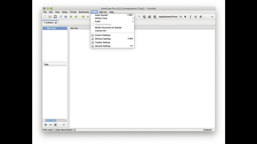 NoteCase Pro for Mac - review, screenshots