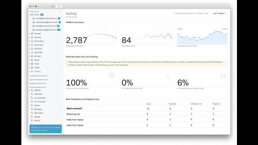 Mailspring for Mac - review, screenshots