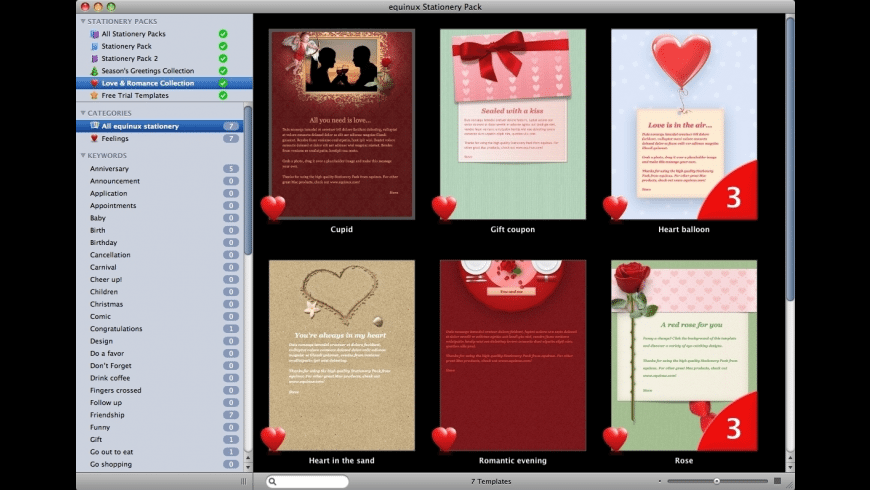 Stationery Greeting Cards for Mac - review, screenshots