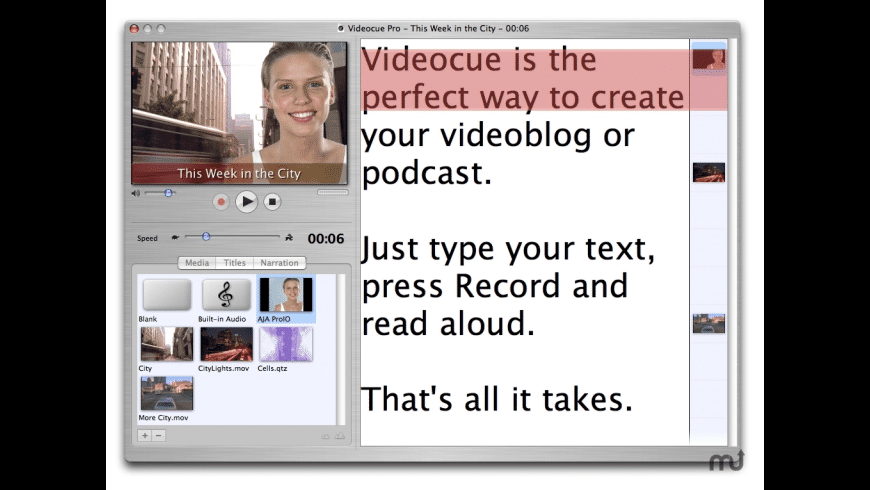 Videocue for Mac - review, screenshots