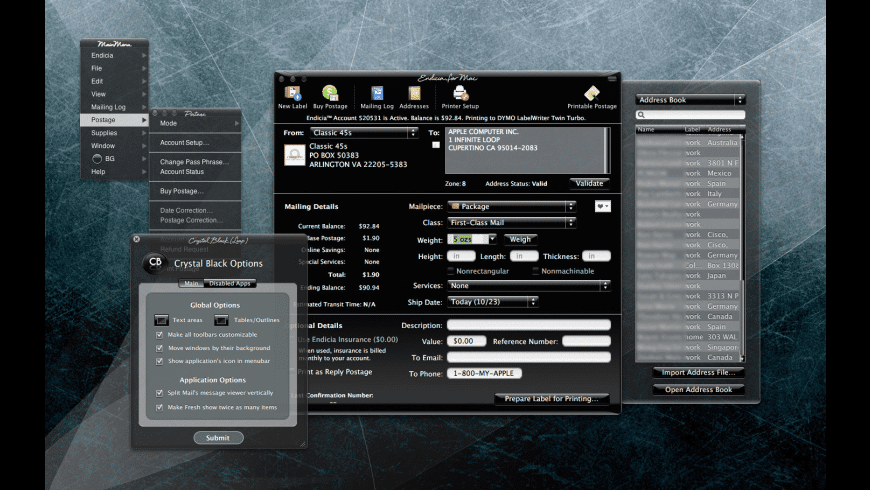 Crystal Black for Mac - review, screenshots