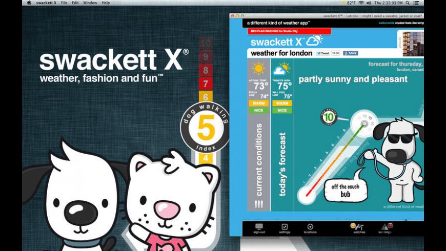 swackett x for Mac - review, screenshots