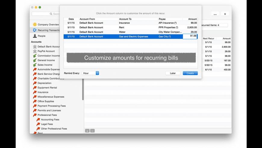 Accounted for Mac - review, screenshots