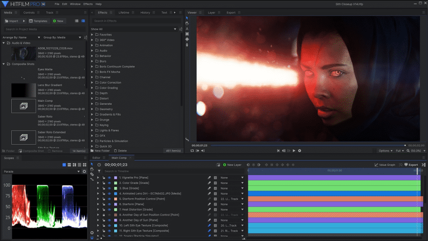HitFilm Express for Mac - review, screenshots