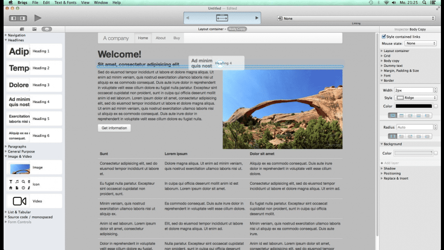 Briqs for Mac - review, screenshots