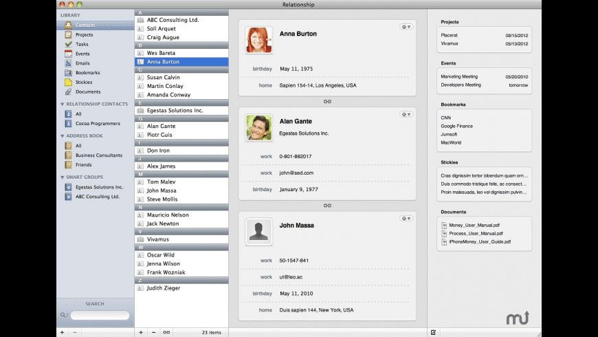 Relationship for Mac - review, screenshots